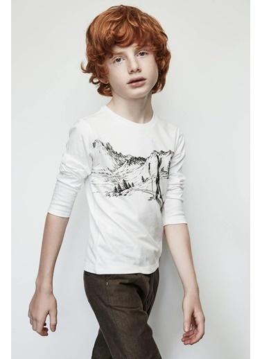 Nebbati Erkek Çocuk Ekru T-Shirt Ekru